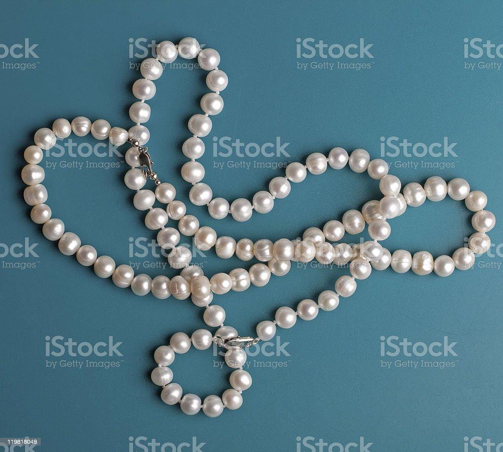 Perlas de color blanco foto de stock libre de derechos