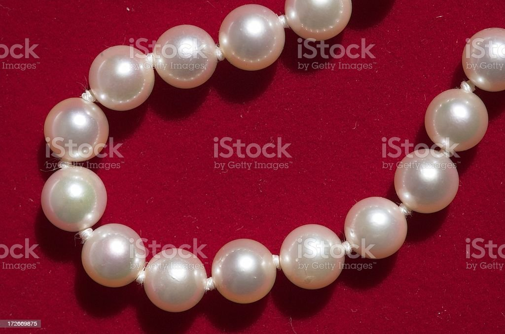 White pearls royalty-free stock photo