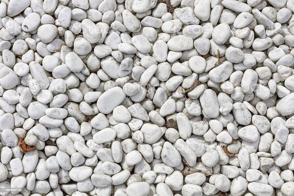 White pebbles in plan view royalty-free stock photo