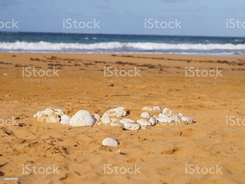 White pebbles on a beach stock photo