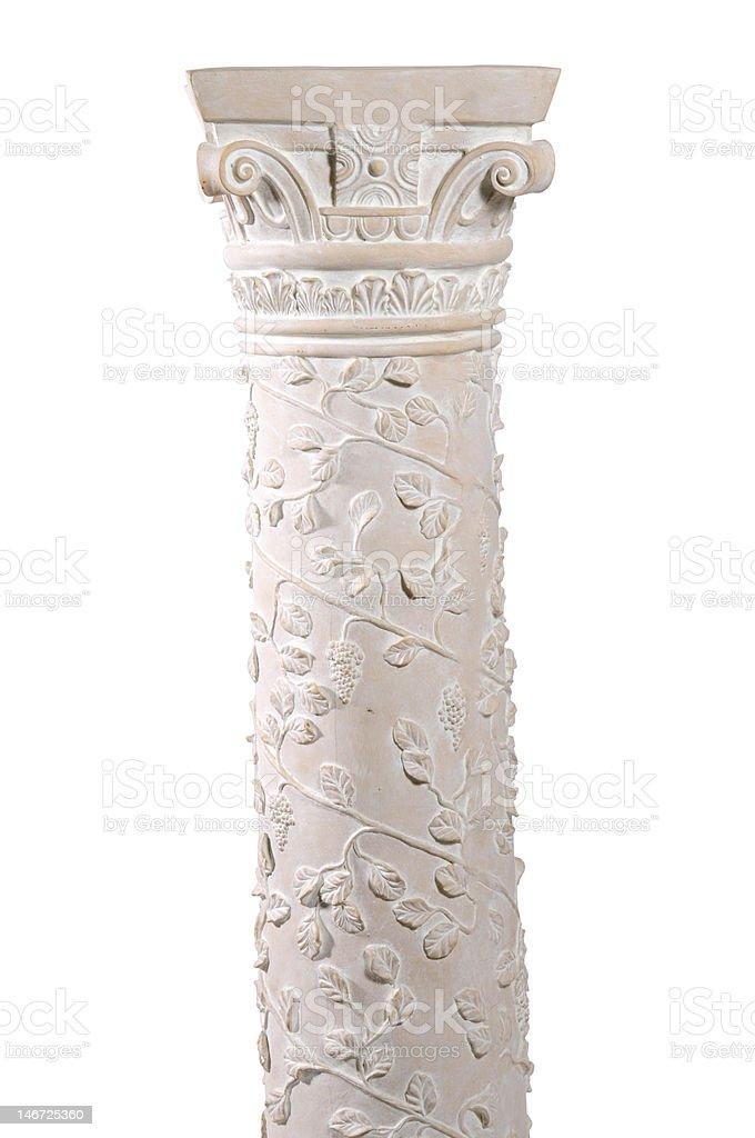 White pedestal royalty-free stock photo