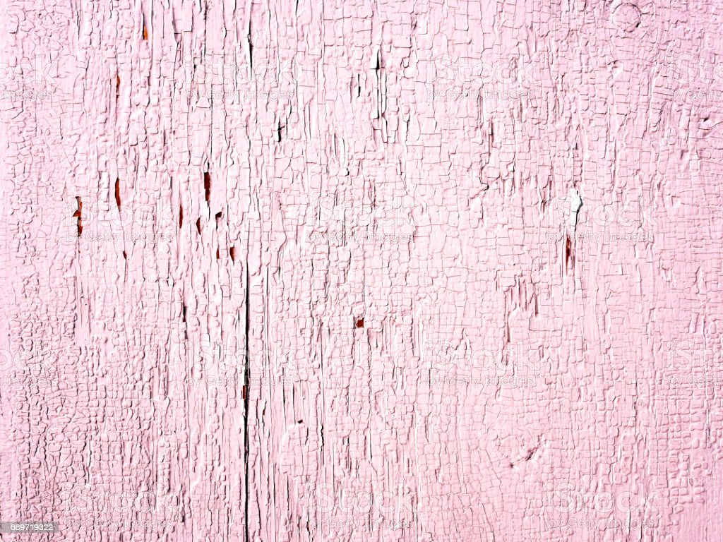 White peeled, textured, aged paint background on a wooden surface stock photo
