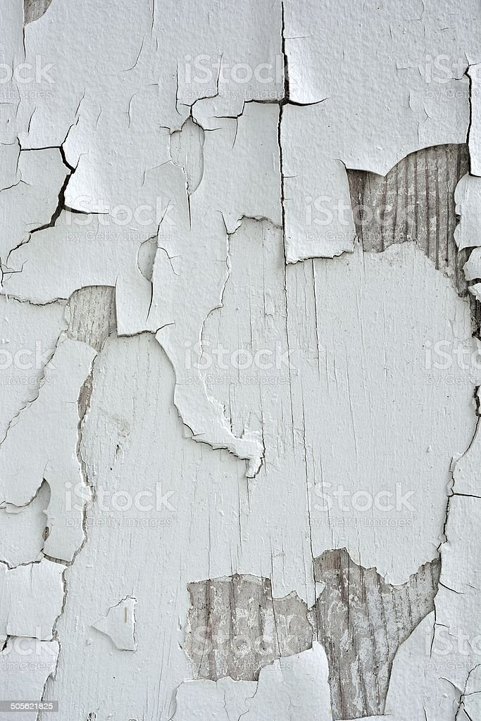 White peeling paint stock photo