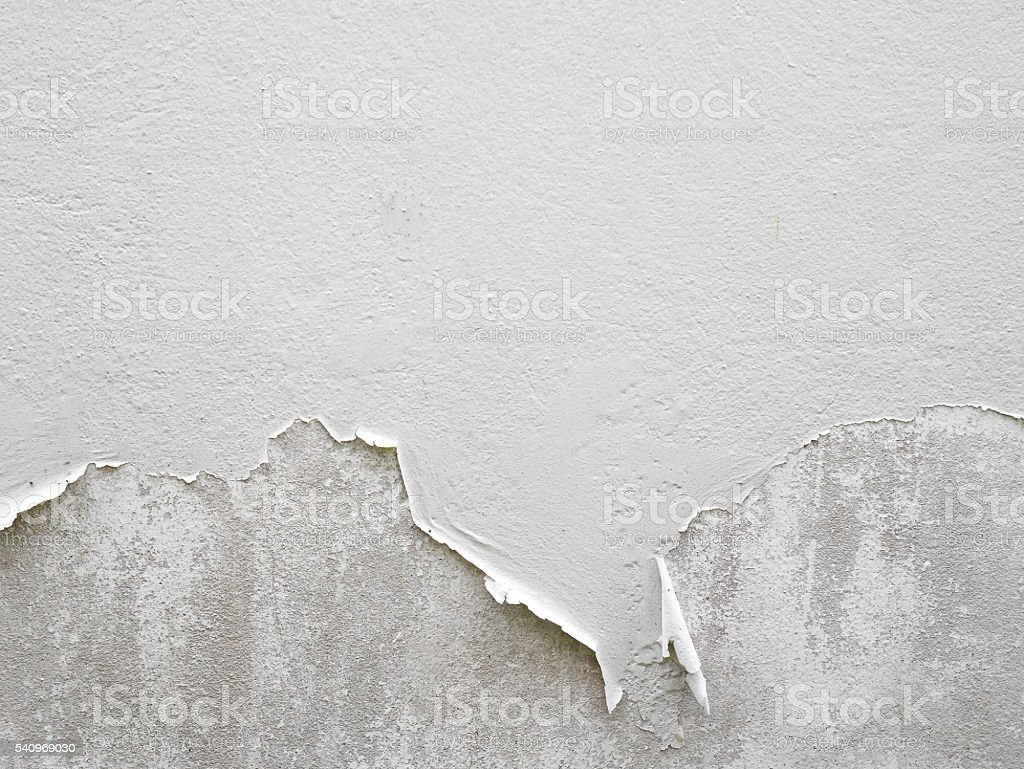 White peeling paint wall stock photo