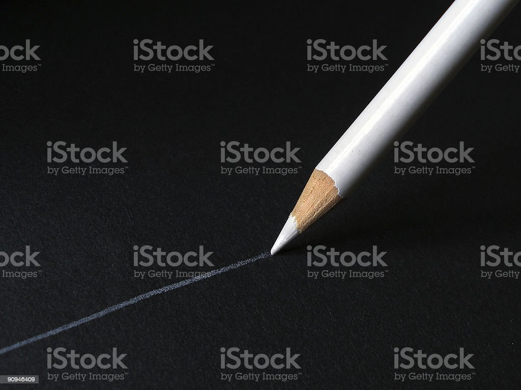 white pencil royalty-free stock photo