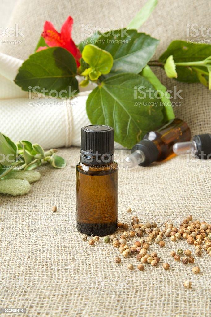 White pepper oil stock photo