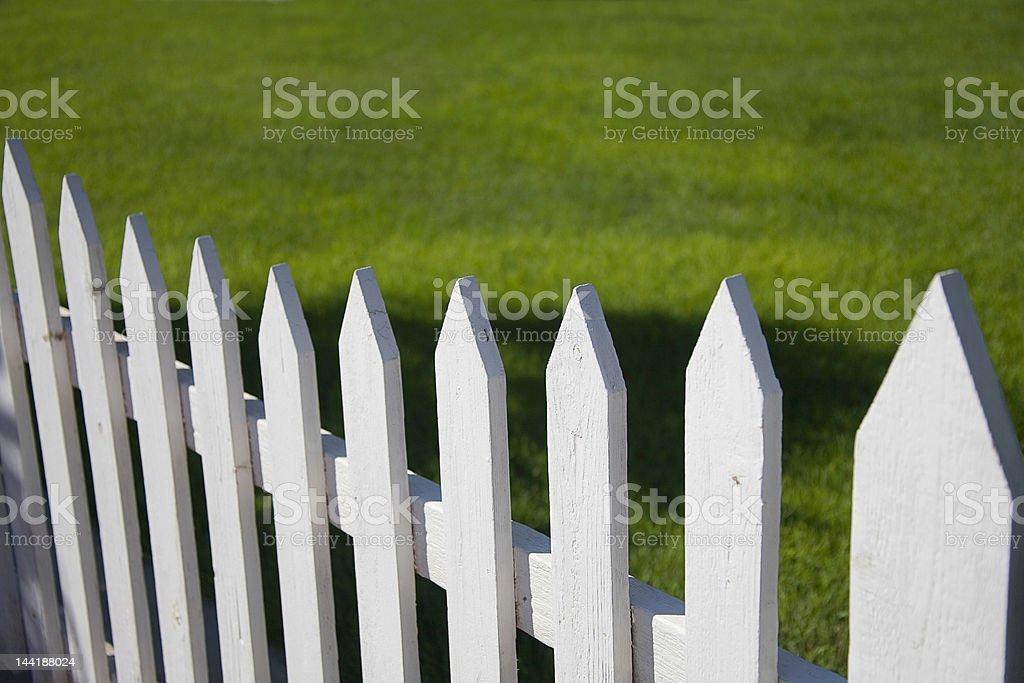 Bianco Steccato foto stock royalty-free