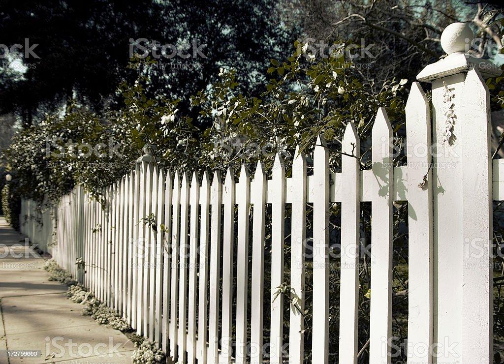 White picket hue royalty-free stock photo