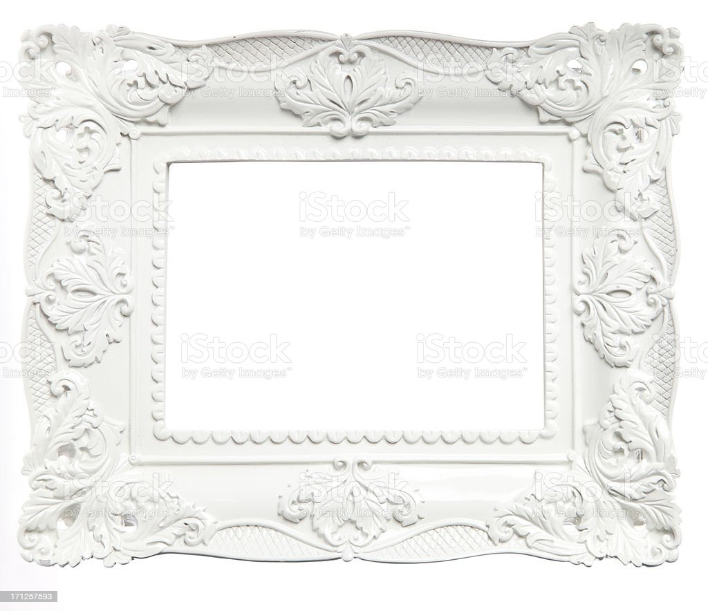 White Picture Frame royalty-free stock photo