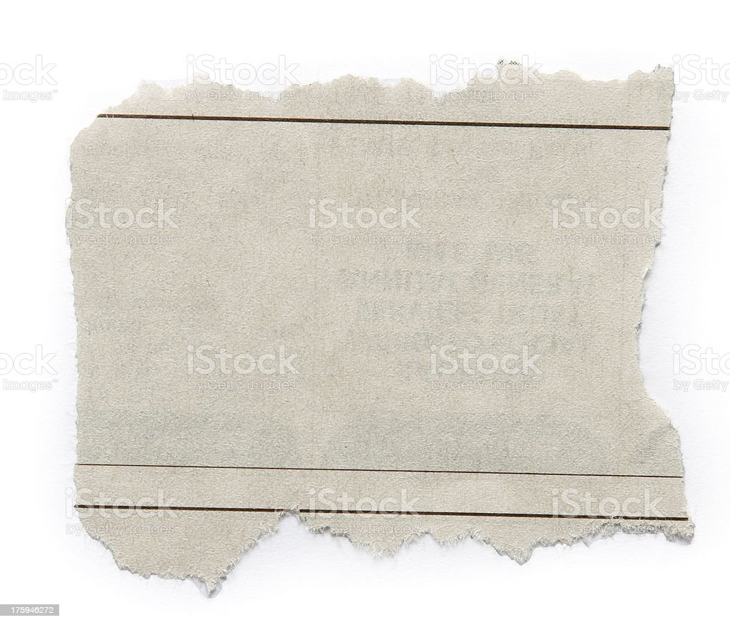 White piece of paper ripped with 3 thin lines drawn on it stock photo