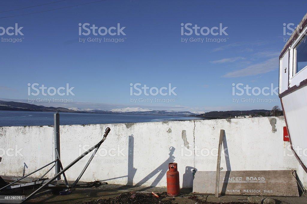 White Pier royalty-free stock photo