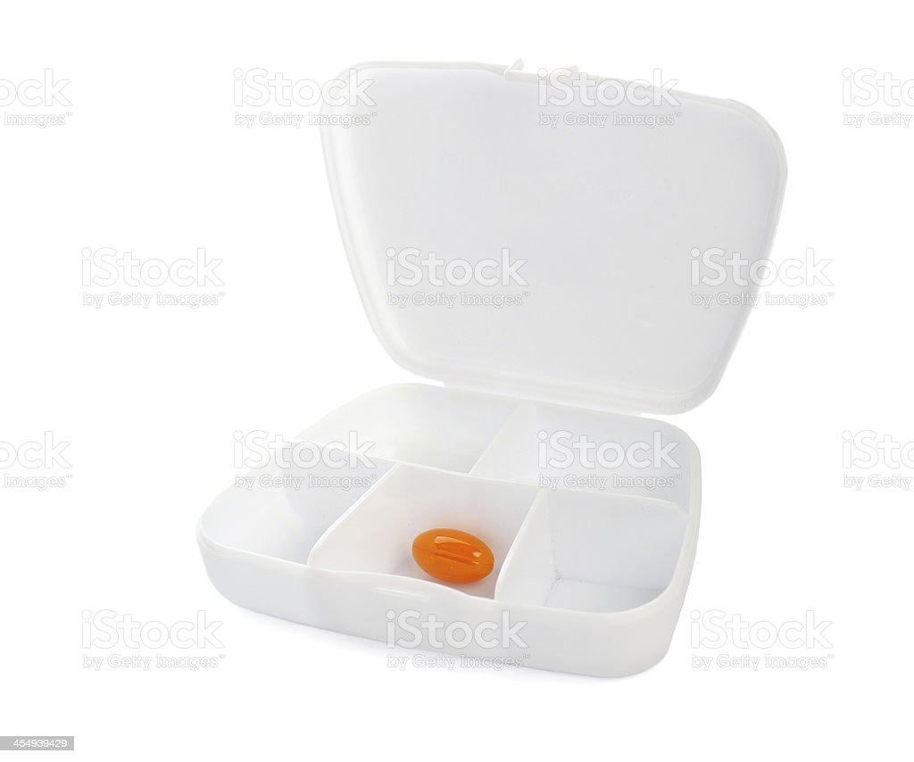 White pill box organizer dispencer royalty-free stock photo