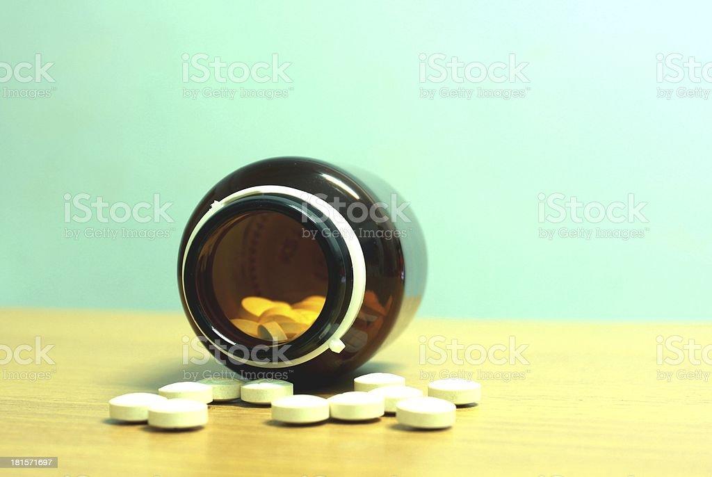 White pill royalty-free stock photo