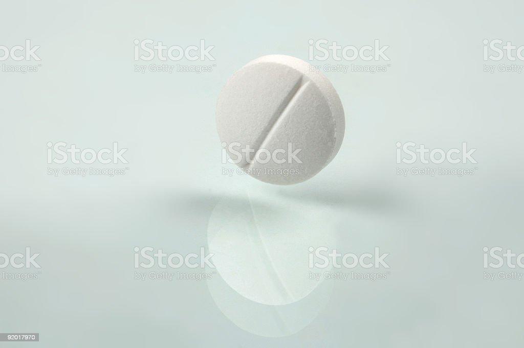 white pill stock photo