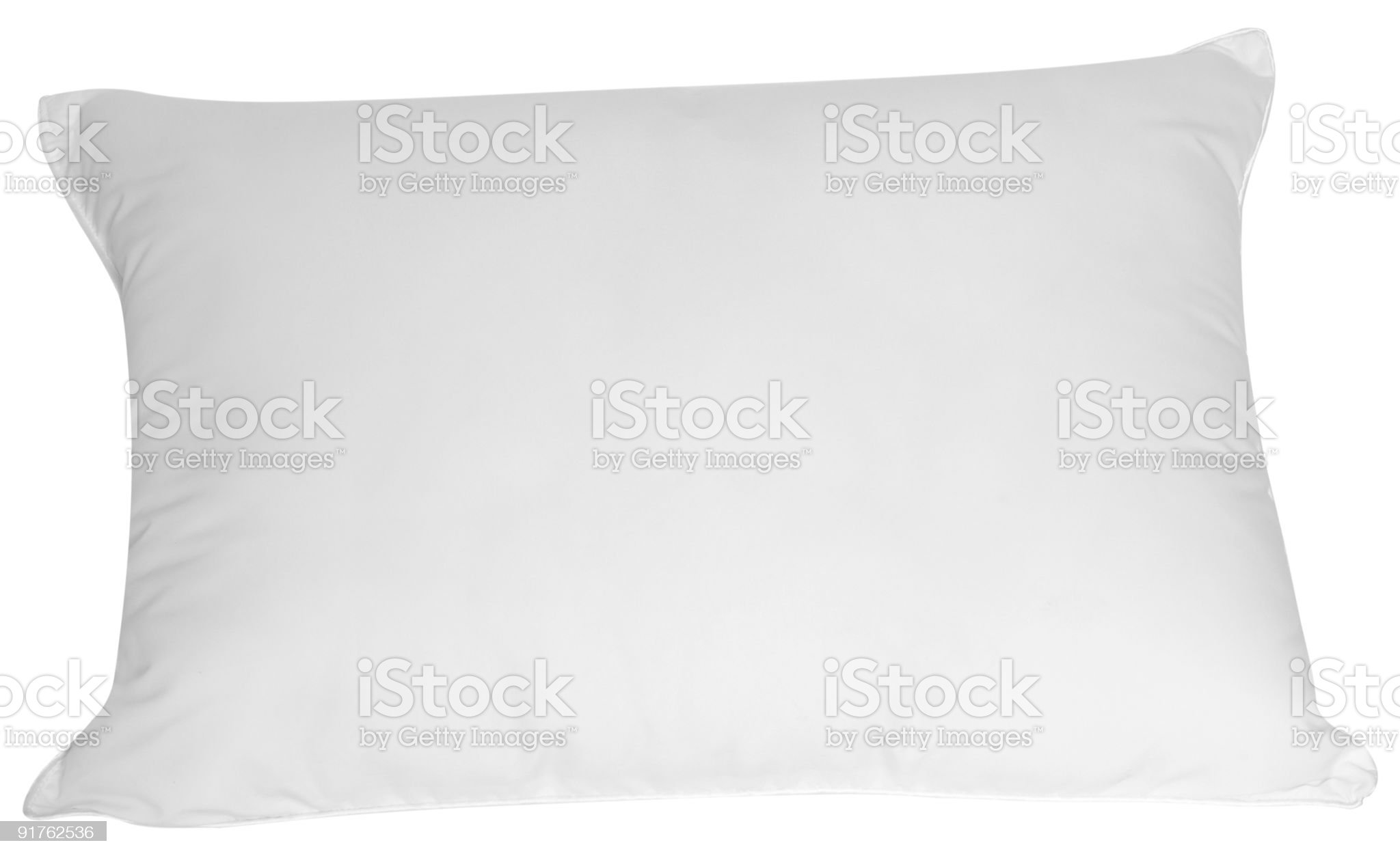 White pillow. Clipping path. royalty-free stock photo
