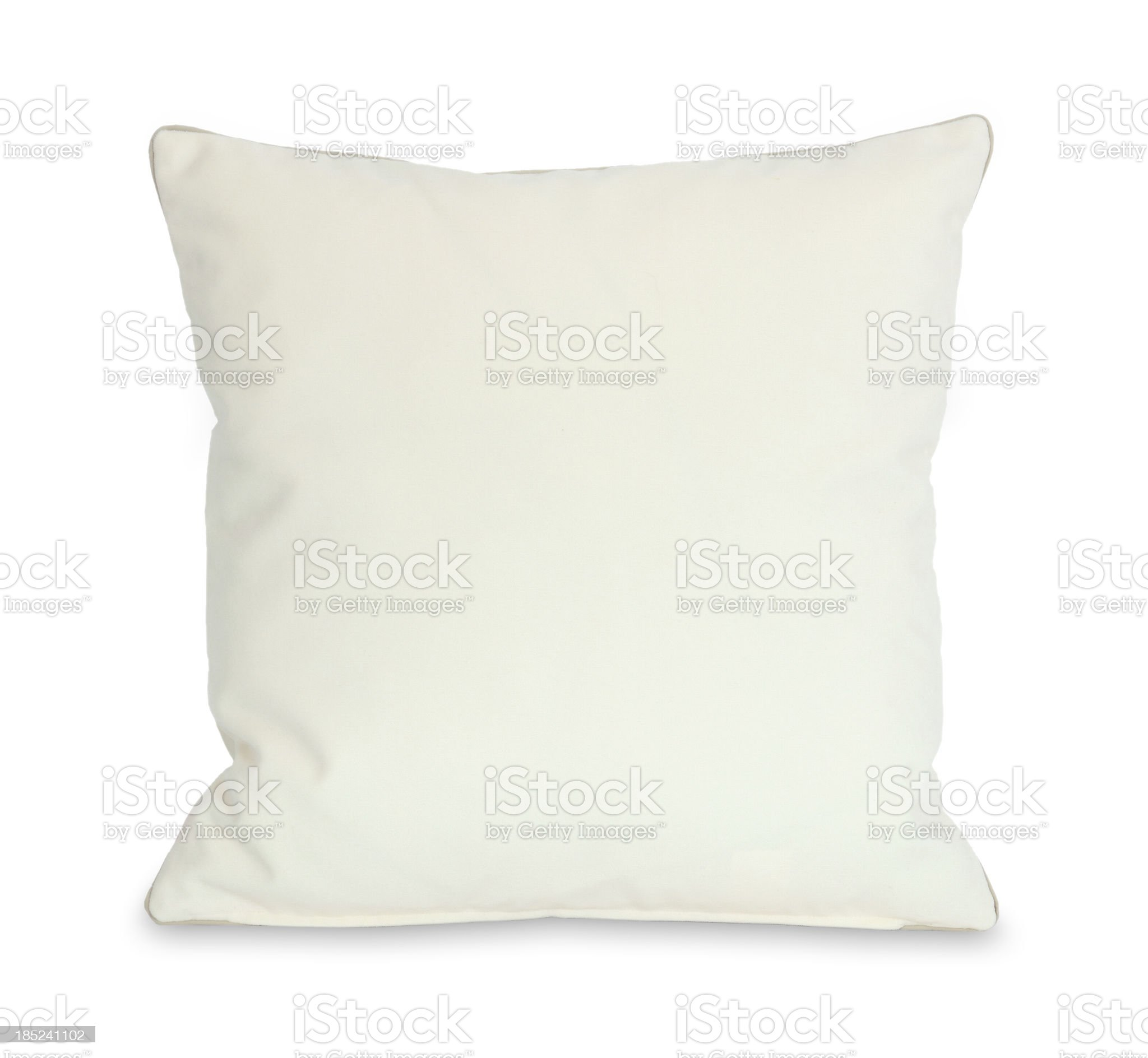 White Pillow (Clipping Path) royalty-free stock photo