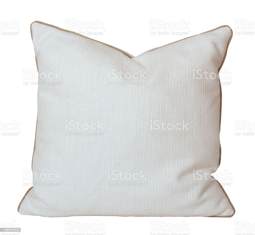 White Pillow (Clipping Path) stock photo