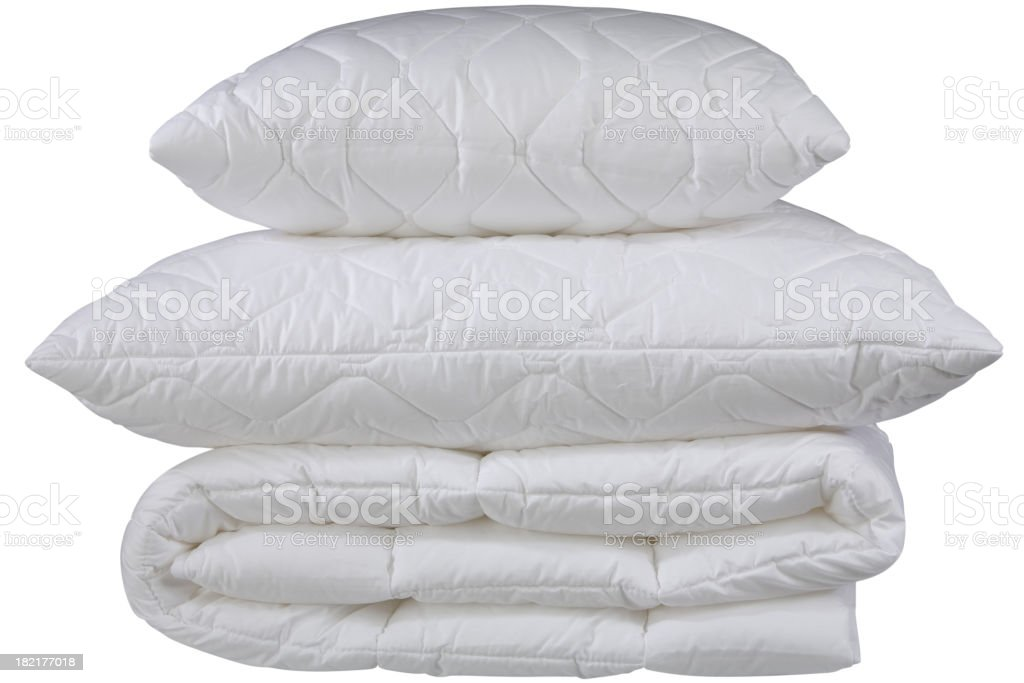 white pillows, clipping path royalty-free stock photo