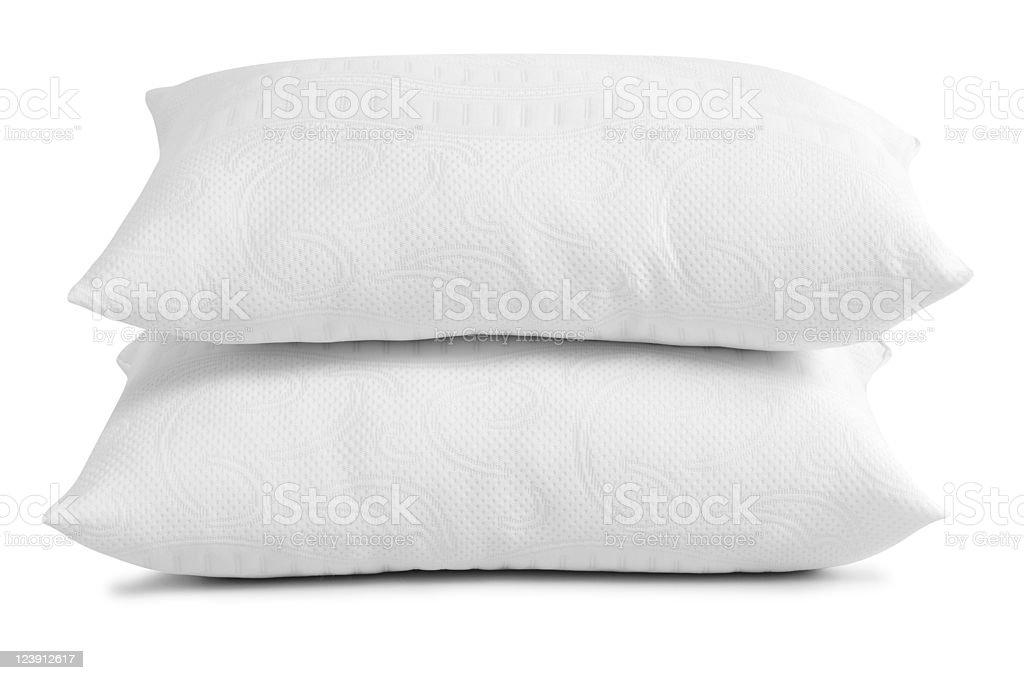 White pillows. stock photo