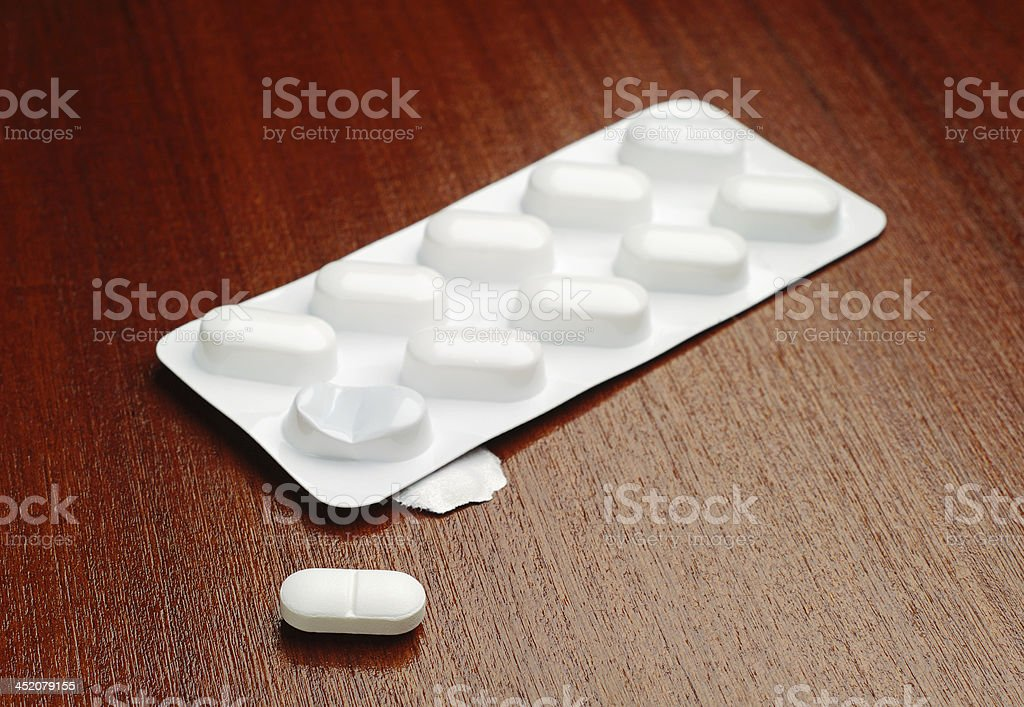 Blanco comprimidos foto de stock libre de derechos