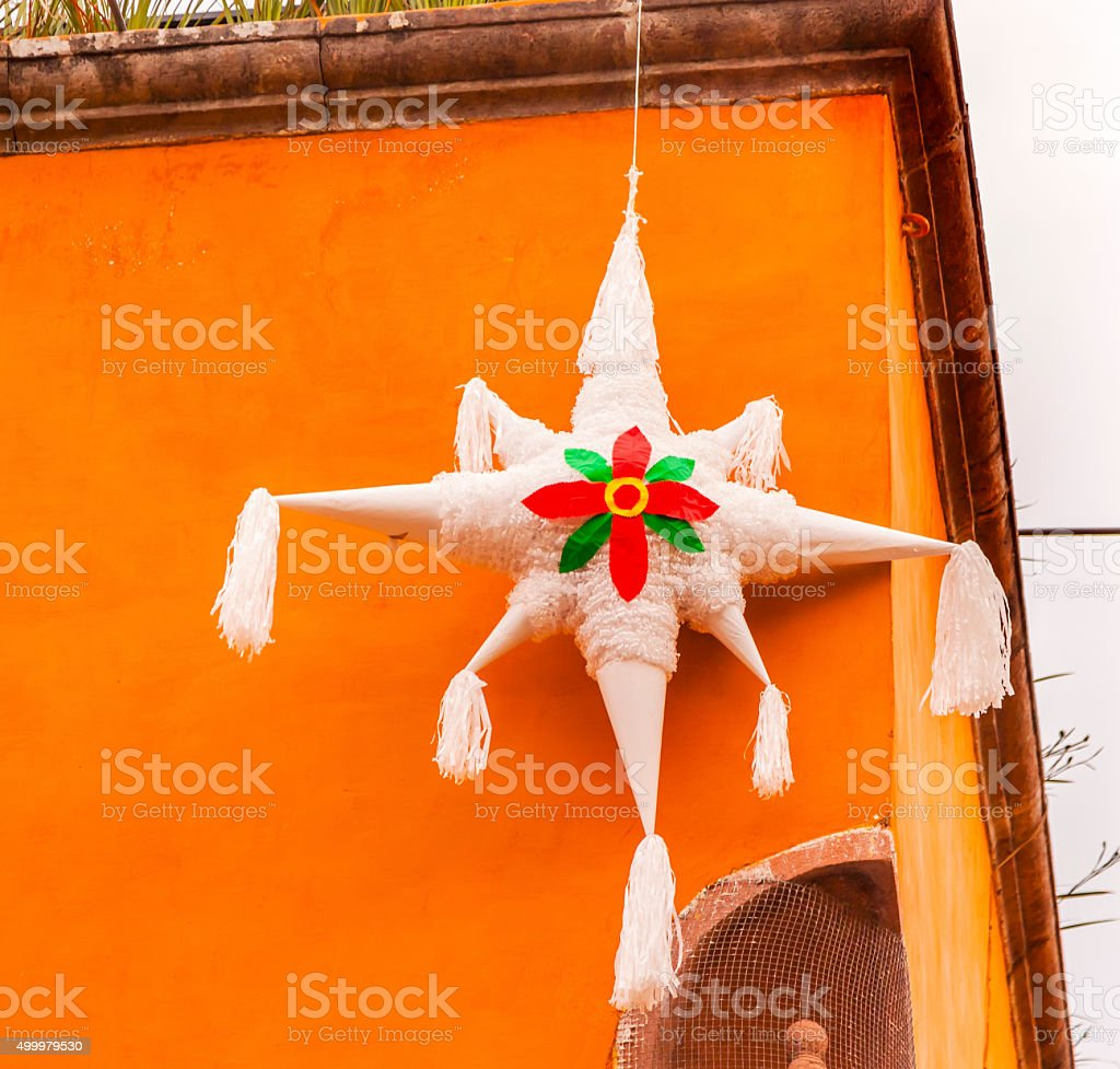 White Pinata Christmas Decoration San Miguel de Allende Mexico stock photo
