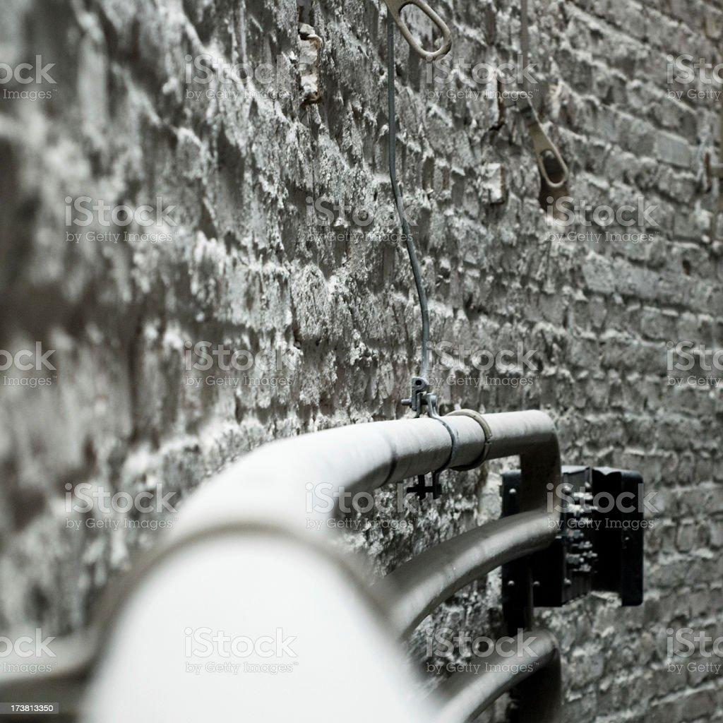 white pipes stock photo