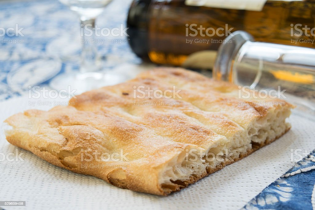 white pizza and mug of beer stock photo