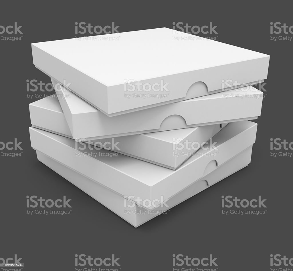 white pizza packaging boxes royalty-free stock photo