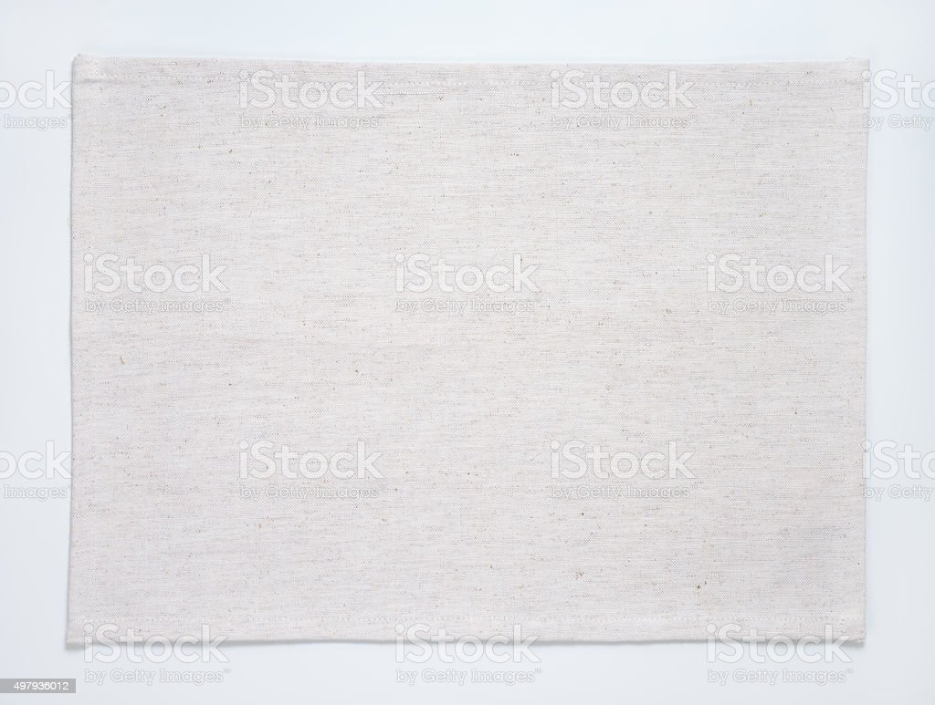 White place mat stock photo