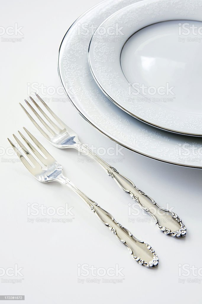 white placesetting royalty-free stock photo