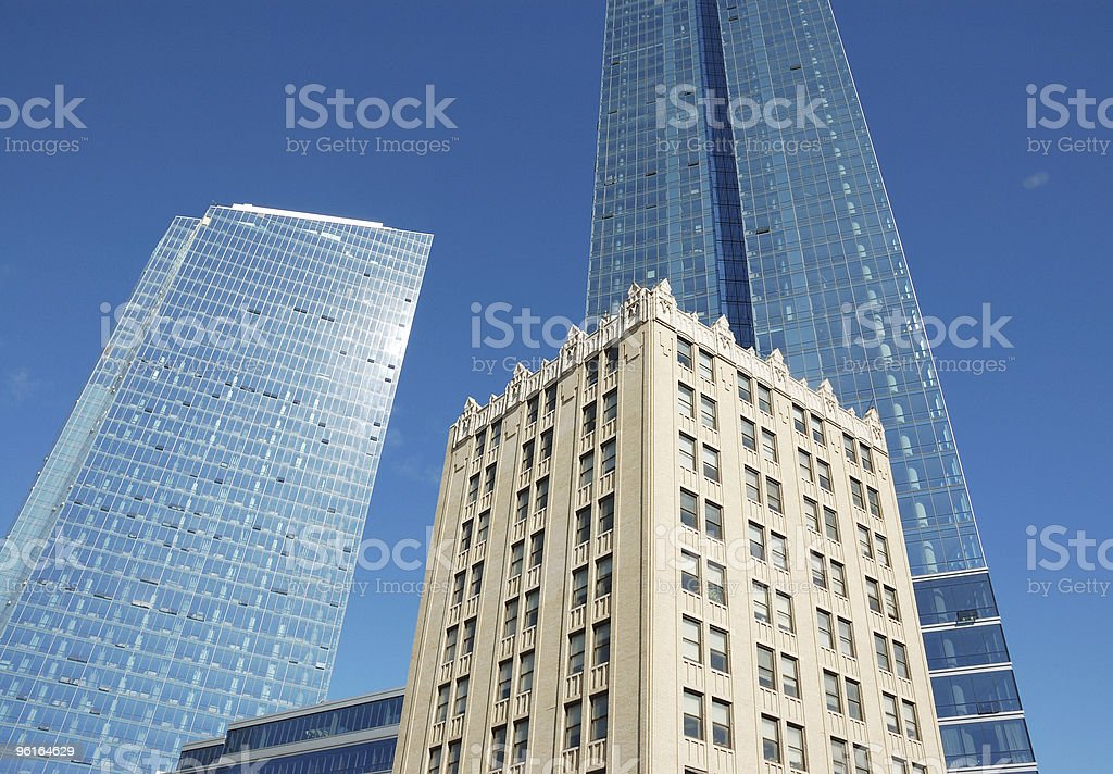 White Plains New York, Architectural contrasts, old & new royalty-free stock photo