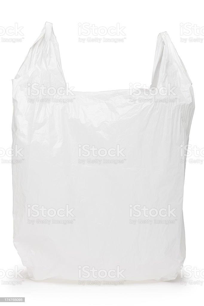 White plastic bag stock photo