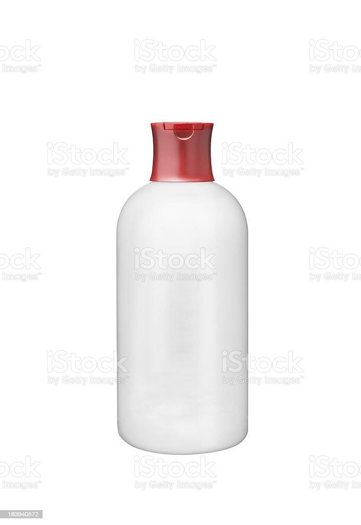 White plastic botle isolated royalty-free stock photo