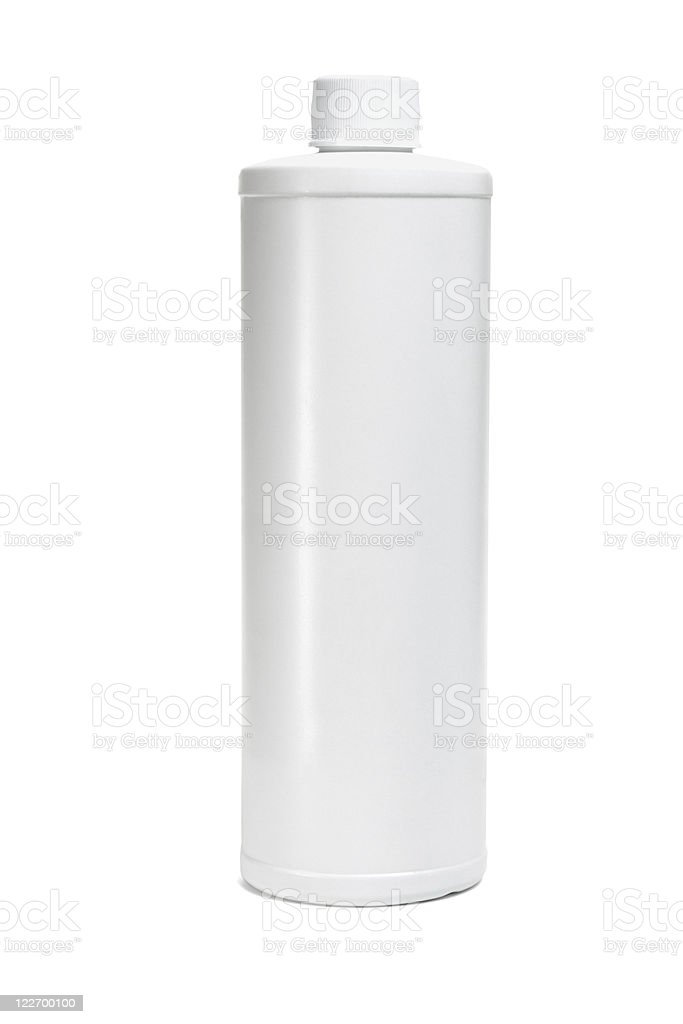 White plastic bottle stock photo