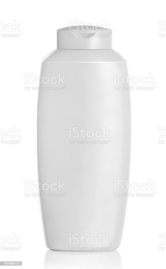 White plastic container for cosmetic product royalty-free stock photo