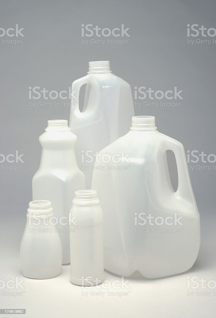 White Plastic jugs royalty-free stock photo