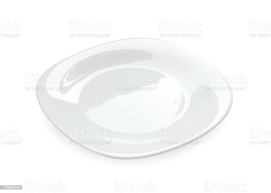 White plate isolated royalty-free stock photo
