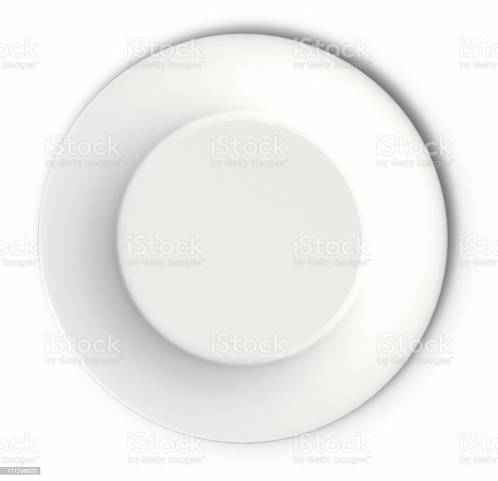 White Plate royalty-free stock photo