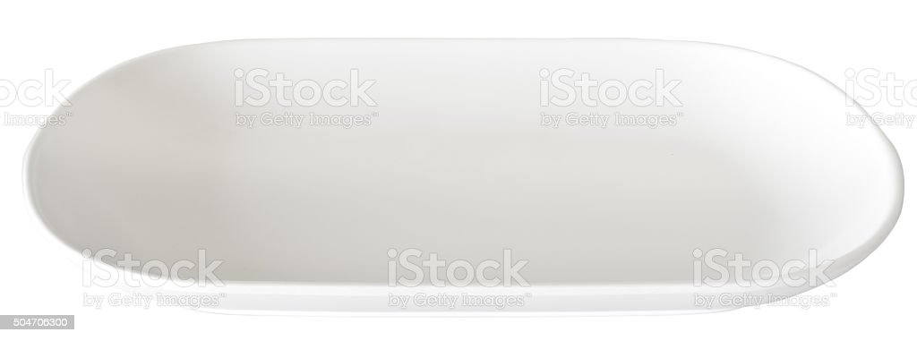 white plate stock photo