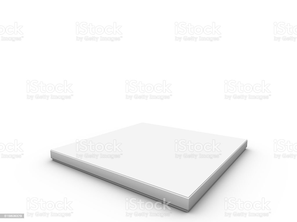 white platform to place product stock photo