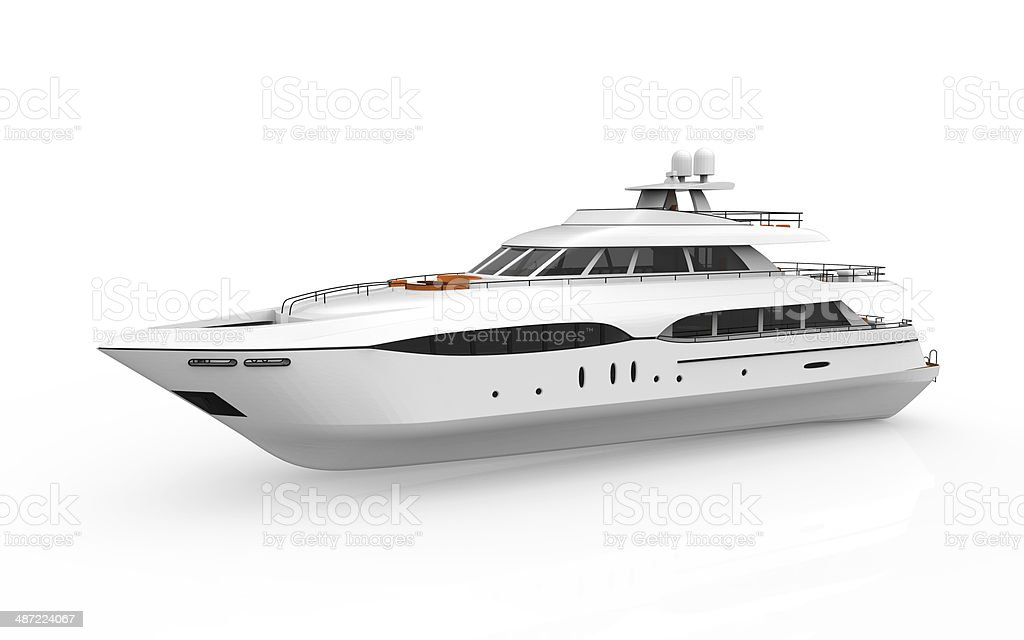 White Pleasure Yacht stock photo