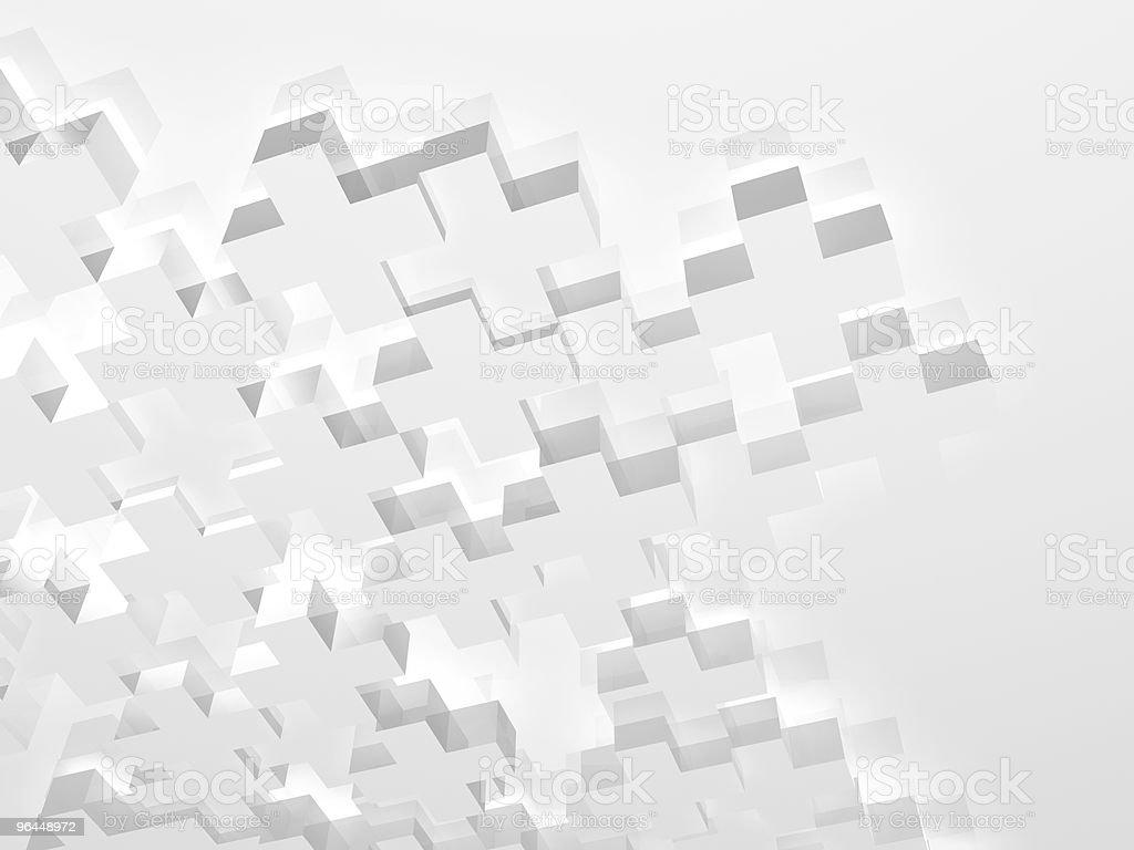 White pluses stock photo