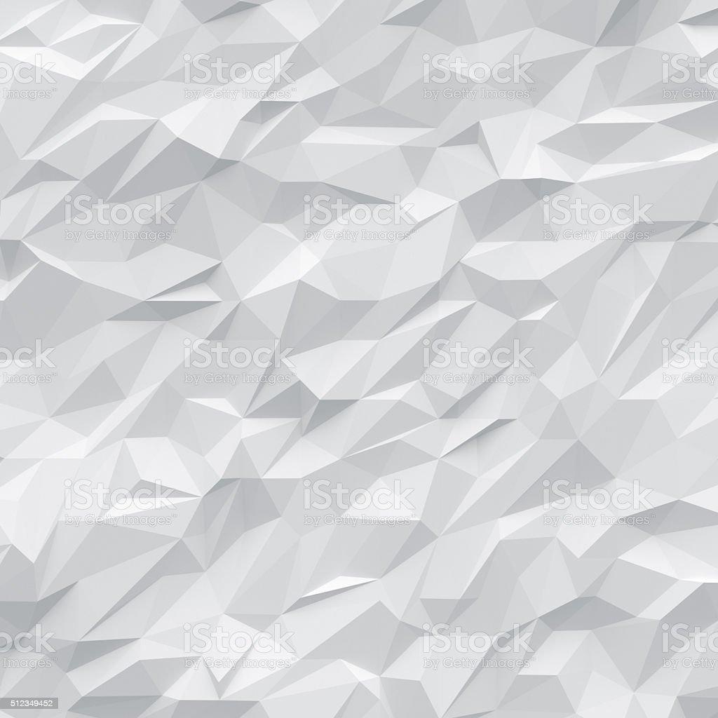 white polygon background stock photo