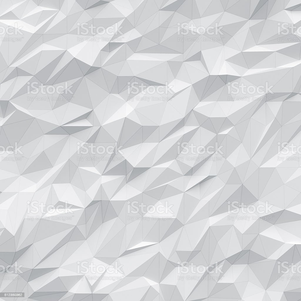 white polygons background with wireframe stock photo