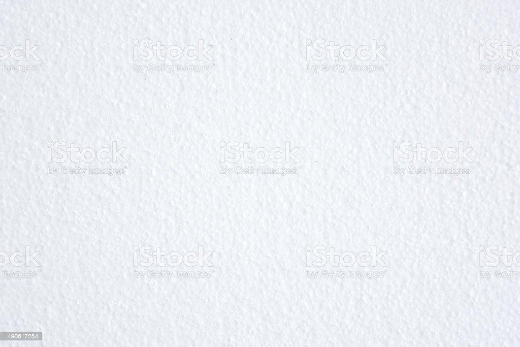 white polystyrene foam texture background stock photo