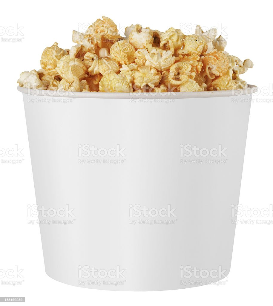 white popcorn box royalty-free stock photo