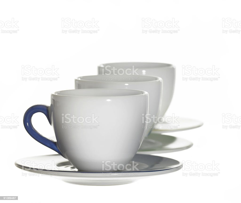 white porcelain cups royalty-free stock photo