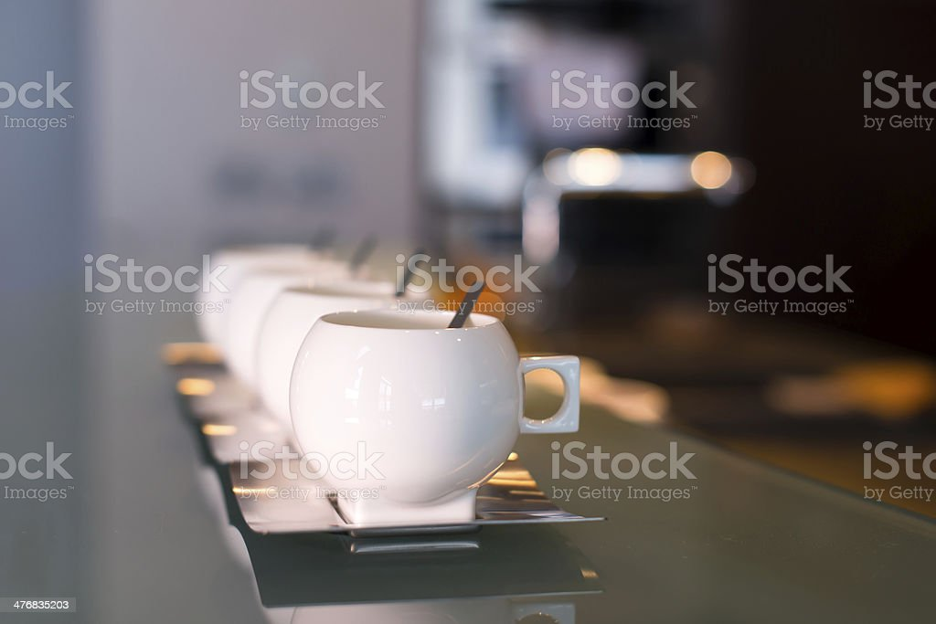 White porcelain modern cups royalty-free stock photo