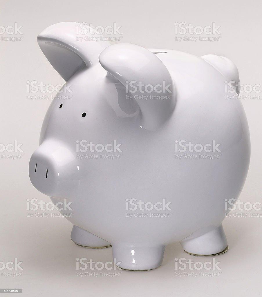 white porcelain piggybank royalty-free stock photo