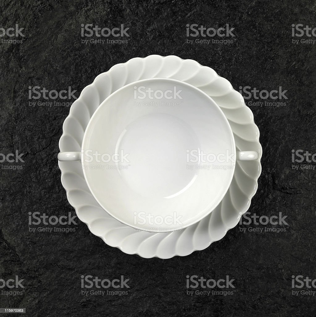 white porcelain soup plate royalty-free stock photo